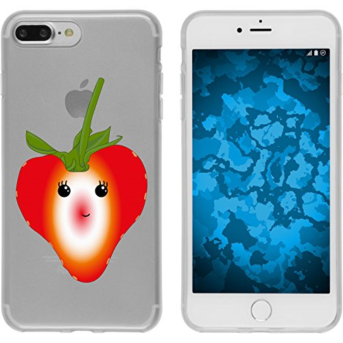 PhoneNatic Case für Apple iPhone 8 Plus Silikon-Hülle Sommer Melone M5 Case iPhone 8 Plus Tasche + 2 Schutzfolien Design:04