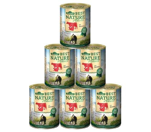Dehner Best Nature Katzenfutter Adult, Rind und Pute, 6 x 400 g (2.4 kg)