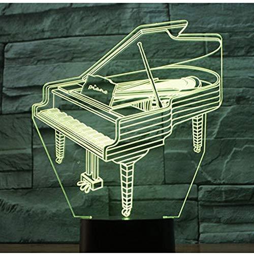 Mozhate 3D Led Nachtlicht Klavier Mit 7 Farben Licht Für Heimtextilien Lampe Erstaunliche Visualisierung Optische Täuschung Ehrfürchtig,A1 (Und Anna Elsa-klavier)