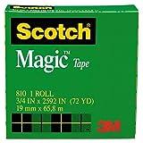 Scotch 810342592–Magic Office Bande, 3/3,7x 65,8m, 3Core clair,