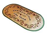 Insun Fußmatten Jute Naturfaser Schlafzimmer Bereich Teppiche Fußabstreifer für Außen und Innen Matte Druckmuster 1 Bunt