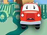 Roter Feuerwehrauto und Freunde