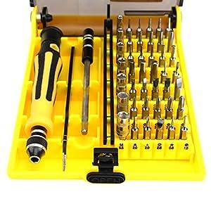 Magnética 45 en 1 multifunción de destornilladores de precisión herramienta de reparación para el teléfono por rongwen