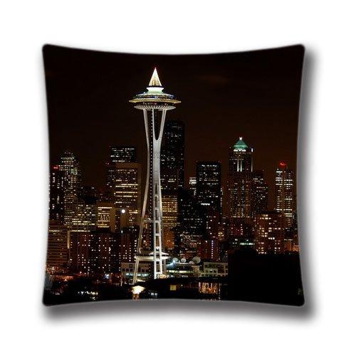 Great Spring Dekorative Quadratisch Kissen werfen Kissenbezüge 45,7x 45,7cm (Zwei Seiten) Night in Seattle Kissen für Sofa, art13022