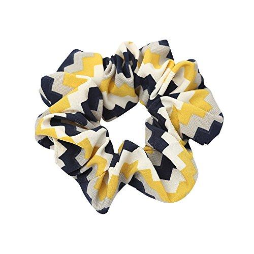 Elastisches Stirnbänder, TTWOMEN Seil Ring Knoten Inhaber Haarband Yoga Kopf Wickelt Pferdeschwanz Turban Haar Zubehör (Gelb) -
