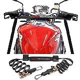 Motorrad Lenker Abspanngurt mit Ratschen und Karabinerhaken,Verzurrgurt Ratschengurt Motorrad Transport