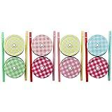COM-FOUR® 8x Schraub-Deckel mit Trinkhalm aus Kunststoff für Trinkläser, in verschiedenen Farben (Ersatzdeckel 8x)