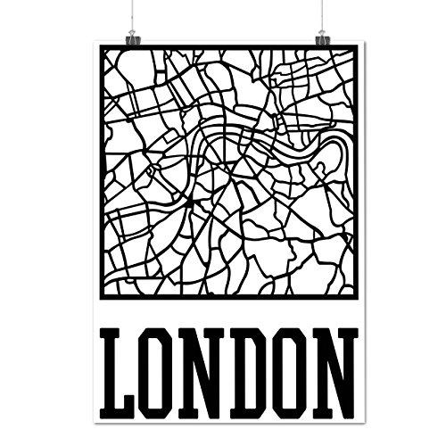 england-city-london-town-map-matte-glossy-poster-a2-60cm-x-42cm-wellcoda