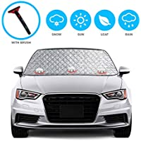 Aokebeey Car Windscreen Frost Cover Snow Cover Windshield Ice Cover Sunshade Protector in all Weather,1.5x2.45m