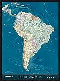 COLUMBUS Kontinentkarte SÜDAMERIKA: 5-farbig auf Spezialpapier gedruckt, mit Matt-Glanz-Kontrasten der Kontinente 85 x 115 cm, 1:8.750.000