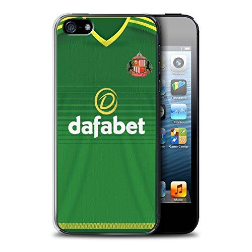 Offiziell Sunderland AFC Hülle / Case für Apple iPhone 5/5S / Kone Muster / SAFC Trikot Away 15/16 Kollektion Fußballer