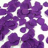 Wadoy 100 Rosenblätter aus Stoff lila purple Hochzeit Streublumen Blumenkinder Rosenblüten Tischdeko
