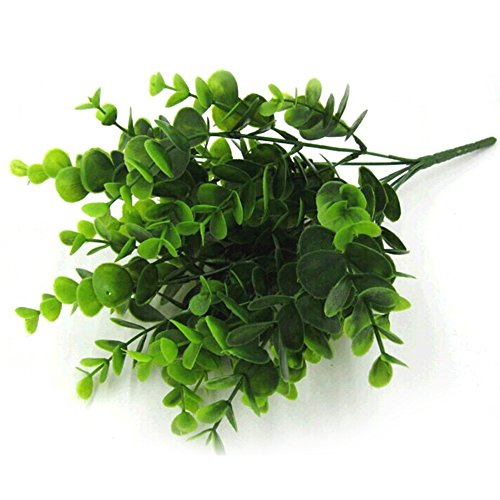Foglia artificiale, piante per interni ed esterni finto fiore foglia fogliame bush home office garden decor ()