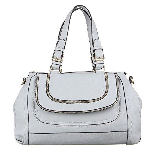 Grand sac à main pour femme baguett-étui en similicuir-tA-d60001 Gris - Gris