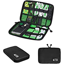 Zuoao Universal Organizador para Accesorios Electrónicos Portable Bolsa para Disco Duro USB Cable Organizador Electrónico de Viajes Impermeabile (Negro)
