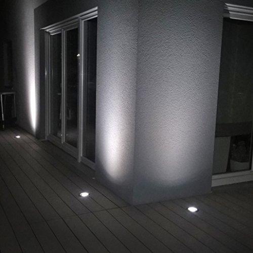 QAZQA Moderne Spot de sol orientable Delux verre/Plastique/Acier inoxydable Acier GU10 Max. 1 x 50 Watt/Extérieur/Jardin/Luminaire/Lumiere/Éclairage