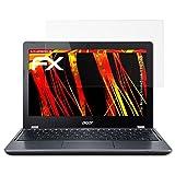 atFolix Schutzfolie kompatibel mit Acer Chromebook 11 C740 Displayschutzfolie, HD-Entspiegelung FX Folie (2X)
