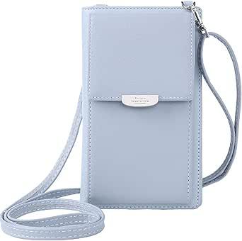 WANYIG Frauen Brieftasche Cross-Body Tasche PU Leder Handy Schultertasche Kleine Damen Geldbörse Handy Mini-Tasche Kartenhalter Umhängetasche