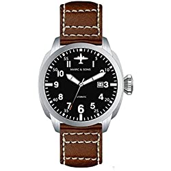 Marc & Sons Professional Automatic Aviator Watch BGW9, Sapphire Glass-MSF 005-B