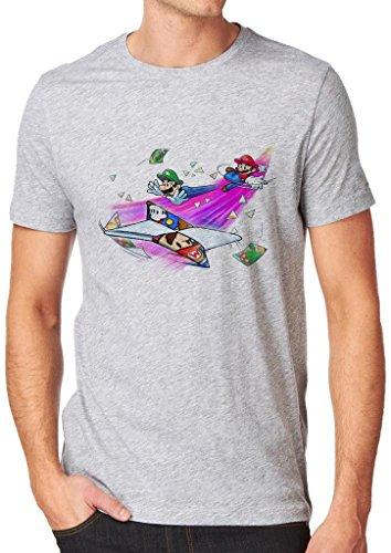 Super Mario Game Fan Shirt Custom Made T-shirt (XL)