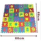 Edealing 1SET Foam Rompecabezas Pequeñas Letras Números 36 Pieza del alfabeto colorido MatToy Juego