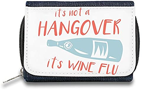 It's wine flu Pochette à glissière Bourse Zipper Wallet| The Stylish Pouch To Keep Everything Organized| Ideal For Everyday Use & Traveling| Authentic Accessories By Hamerson