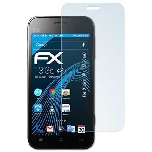 3 x atFoliX Lámina Protectora de Pantalla Xiaomi M1 (Mi-One) Película Protectora - FX-Clear ultra transparente