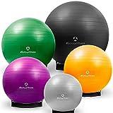 Gymnastikball »Orion« inklusive Ballschale / Robuster Sitzball und Fitnessball von 55 cm bis 85 cm / verschiedene Größen und Farben (sonnengelb silber lila grün schwarz)