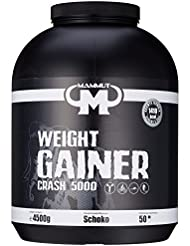 Mammut Weight Gainer Crash 5000 Schoko Kohlenhydrate Masseaufbau Kreatin, 1er Pack (1 x 4.5 kg)