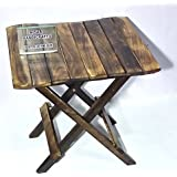 Nisar Handicrafts Wooden Folding Table, Baby Table for Living Room Size- (LxBxH-15x15x15) Inch