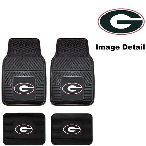 UGA University of Georgia Bulldogs Front & Rear Car Truck SUV Vinyl Car Floor Mats - 4PC by Fanmats