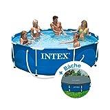 Pack Piscine tubulaire et épurateur Intex MetalFrame 3.05 x 0.76 m + Bâche