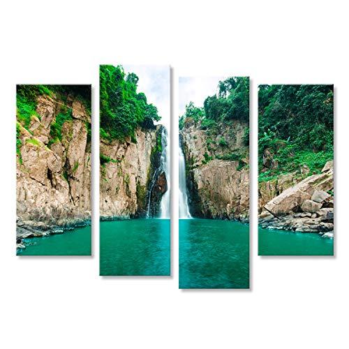 islandburner Bild auf Leinwand Haare Narok Kluft der Hölle Wasserfall, Kao Yai Nationalpark, Thailand Wandbild, Poster, Leinwandbild FUW