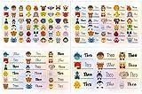Kigima 114 Aufkleber Sticker Namens-Etiketten rechteckig 'Theo' verschiedene...