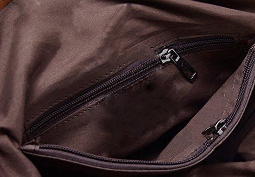 KUWOMINI.Women Bags All Seasons PU Tote Con Ruffles Rivetto Per Evento / Party Shopping Casual Sports Ufficio Formale Ufficio & Carriera Fucsia Blushing Khaki