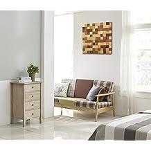 Lieblich Wodewa Wandbild Aus Holz Wanddeko 3D Holzbild Mosaik Holzdeko Braun 50x50cm  Holzbilder I Moderne Bilder Holz