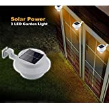 Bluelover Solar Powered LED recinzione giardino esterno luce applique Hall Pathway