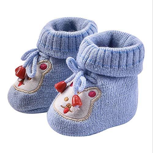 DRAULIC Kleinkind Schuhe Kinder und Kinder handgefertigt 0-1 Jahre alt gewebte Wolle Schuhe Baby gestrickte Wolle Schuhe Neugeborenen Cartoon Baby Schuhe