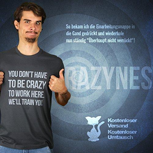 No Need For Crazyness - Herren T-Shirt von Kater Likoli Anthrazit