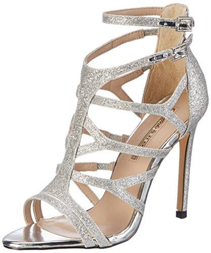 Buffalo Shoes Damen 16S15-6 Glitter Knöchelriemchen, Silber (Silver), 37 EU