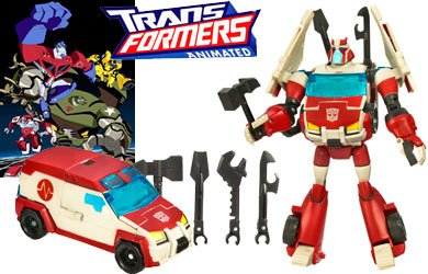 Transformers 83622 Animated Autobot Ratchet Figur Deluxe Class Autobot