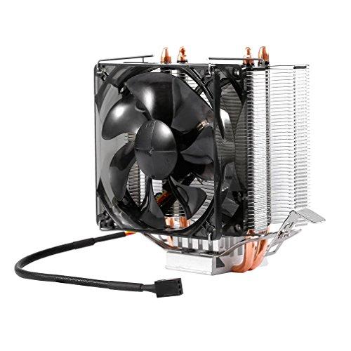 LESHP F2 CPU Luftkühler CPU-Kühler mit 2 Heatpipes und PWM-Anschluss für Intel und AMD Prozessoren