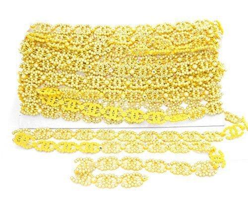 14mm gelb Band mit AB Strass - Aurora Borealis Strass Kette mit Künstlich Diamant für Kunst und Handwerk, Schmuck, Bekleidung von Trimming Shop (Borealis-bekleidung Aurora)