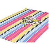 Natürliche bunte gestreifte Stuhl Mat Stuhl Teppich für Hartböden 23 * 35 Zoll