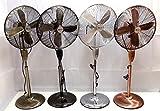 XNÜTZ 45,7cm Metall Ständer Boden Retro Fan–Qualität Finish, 3Einstellungen, Tilt, 4Aluminium Klinge Design, 60W Kupfer Motor, 7Stunde Timer mit Fernbedienung Gunmetal