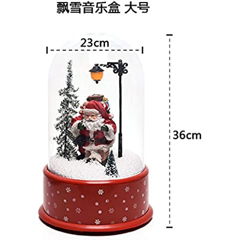 wangjialin-Regali di Natale romantico snow Music Box bambola di Natale negozio decorazione ornamenti di neve ,02
