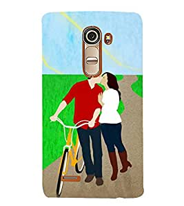 Kissing Love Couple 3D Hard Polycarbonate Designer Back Case Cover for LG G4 Mini :: LG G4c :: LG G4c H525N