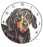Designer Christine Varley Dackel Hund Hergestellt in Großbritannien Geschenk Qualität Uhr