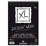 Canson XL Dessin Noir Skizzenblock, leicht gekörnt 150 g/qm, schwarz