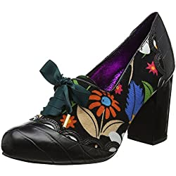 Poetic Licence by Irregular Choice Damen Farrah Flower Pumps, Schwarz (Schwarz), 39 1/3 EU